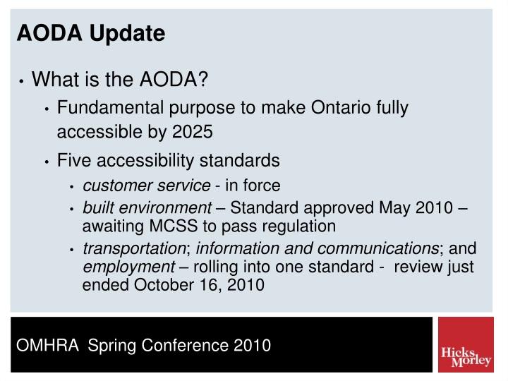 AODA Update
