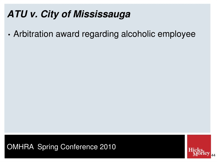 ATU v. City of Mississauga