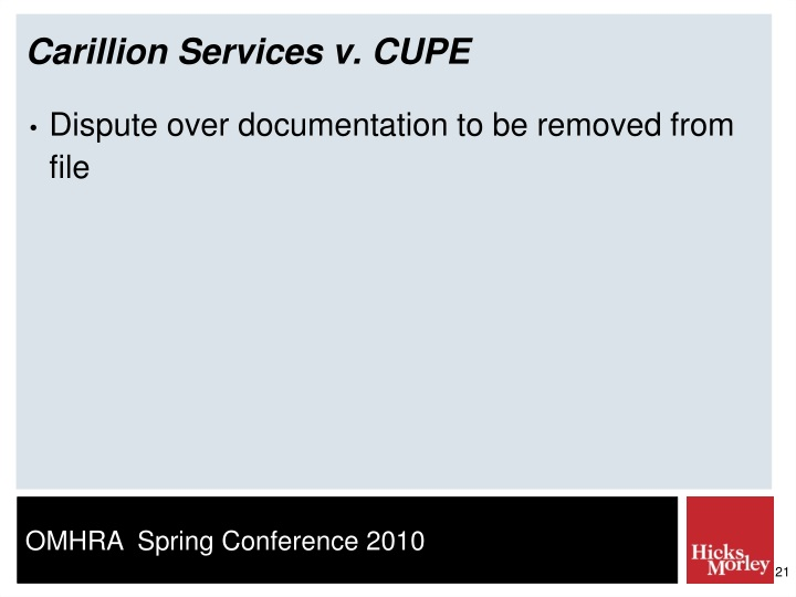 Carillion Services v. CUPE