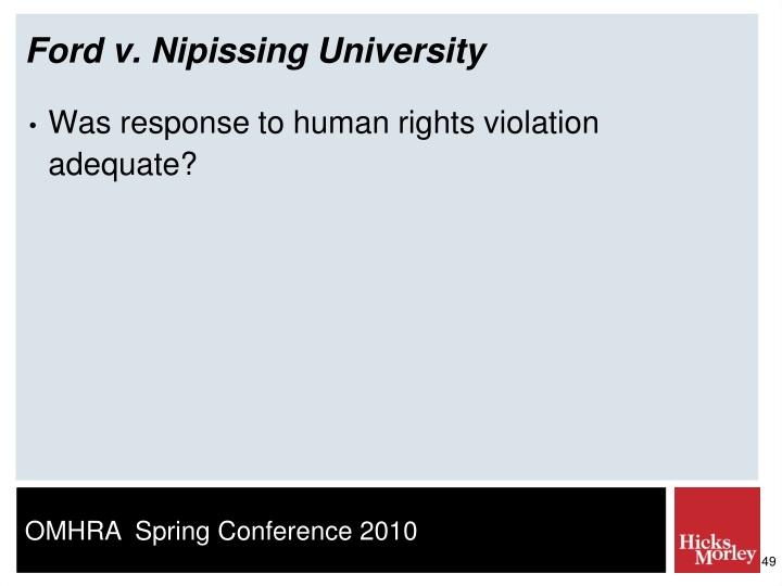 Ford v. Nipissing University