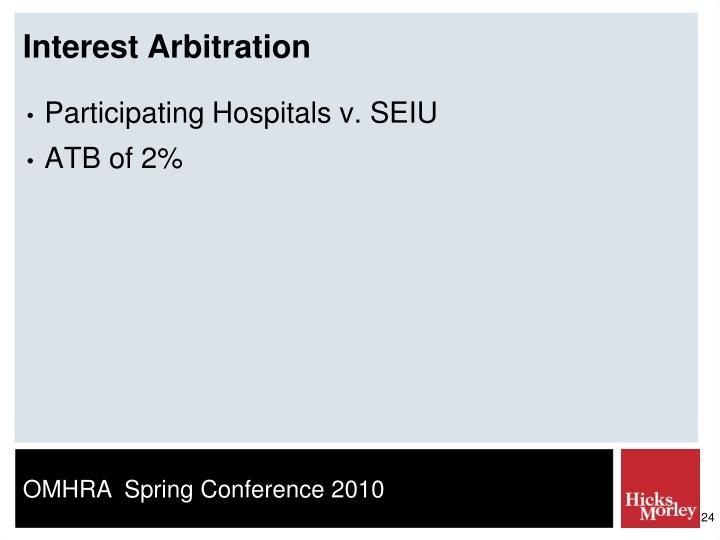 Interest Arbitration