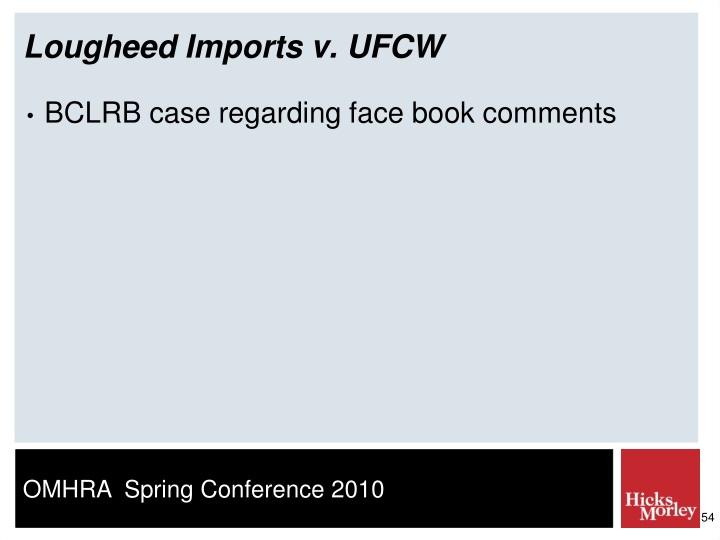 Lougheed Imports v. UFCW