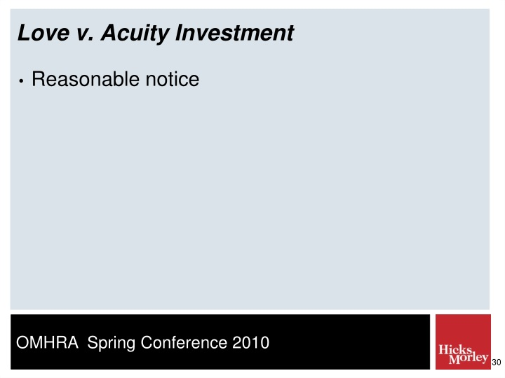 Love v. Acuity Investment