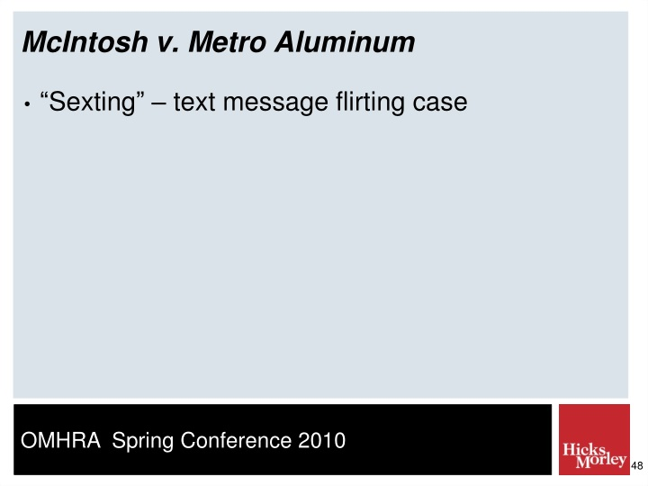 McIntosh v. Metro Aluminum