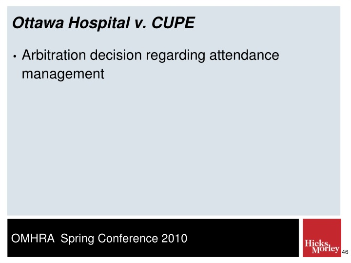 Ottawa Hospital v. CUPE
