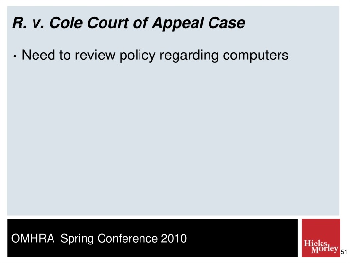 R. v. Cole Court of Appeal Case