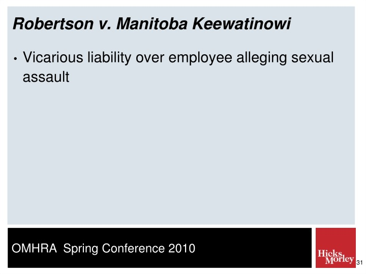 Robertson v. Manitoba Keewatinowi