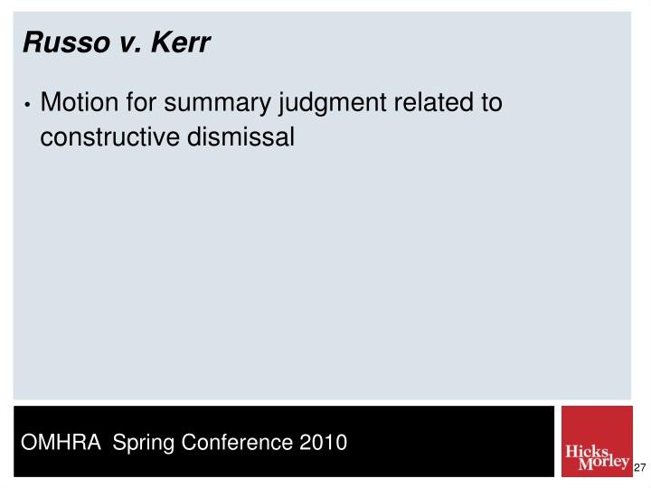 Russo v. Kerr