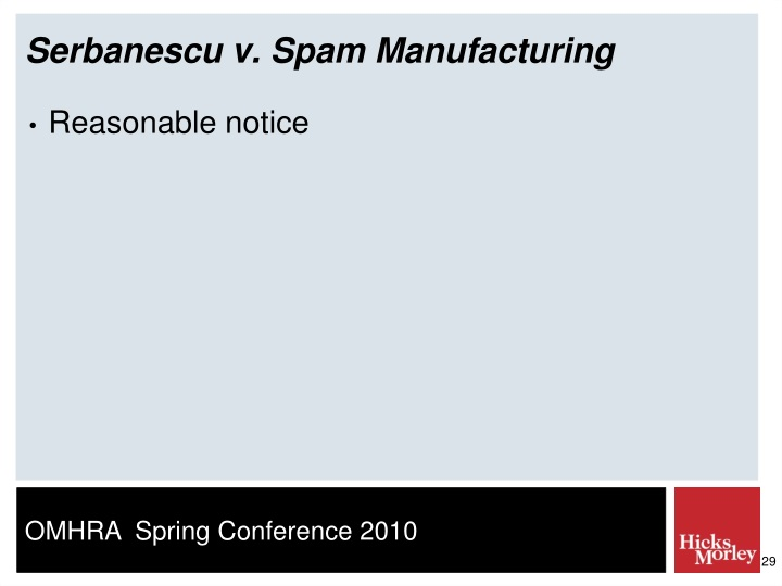 Serbanescu v. Spam Manufacturing