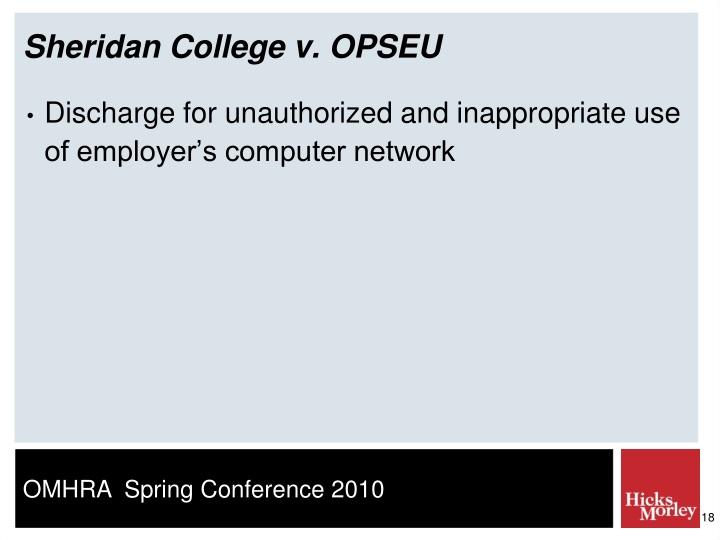 Sheridan College v. OPSEU