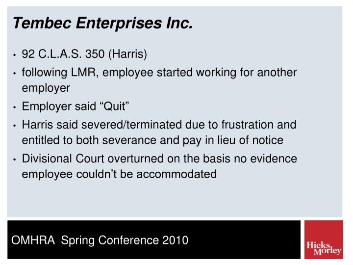 Tembec Enterprises Inc.