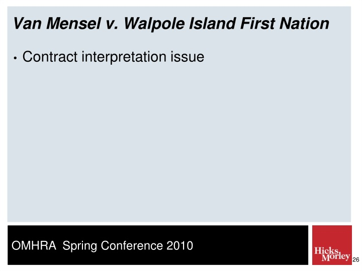 Van Mensel v. Walpole Island First Nation