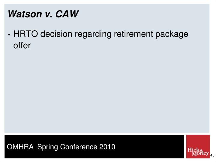 Watson v. CAW