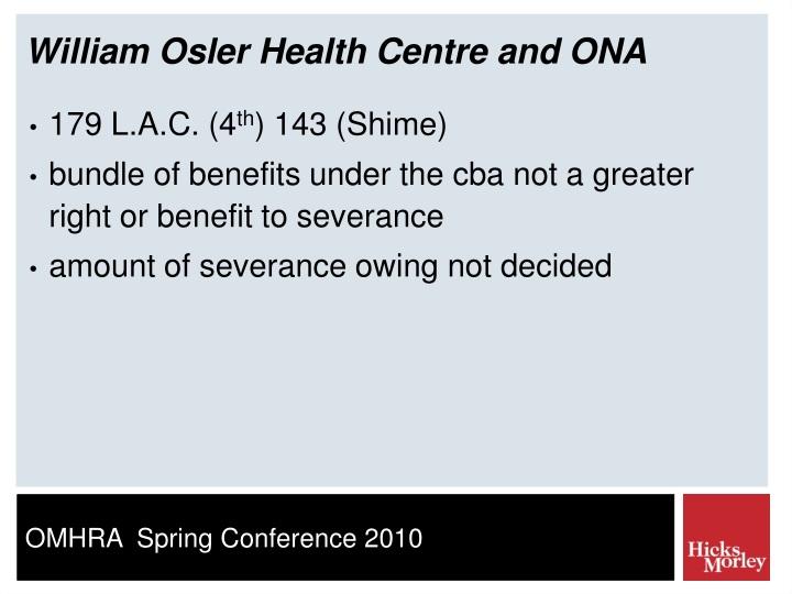 William Osler Health Centre and