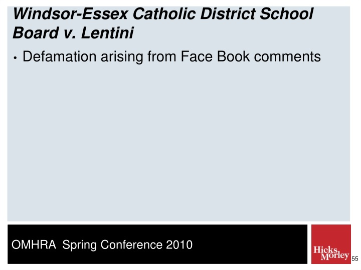 Windsor-Essex Catholic District School Board v. Lentini
