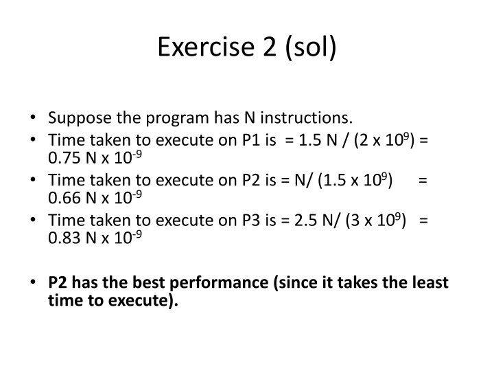 Exercise 2 (sol)