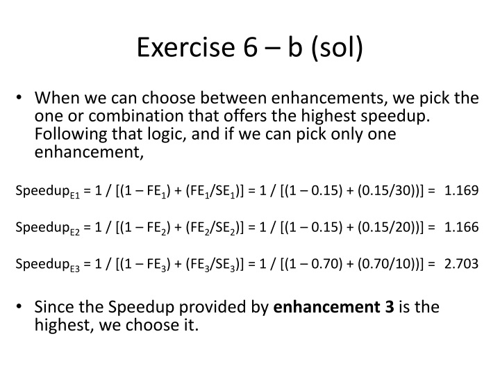 Exercise 6 – b (sol)