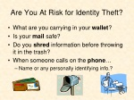 are you at risk for identity theft