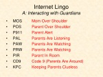 internet lingo a interacting with guardians