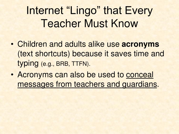 "Internet ""Lingo"" that Every Teacher Must Know"