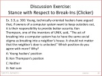 discussion exercise stance with respect to break ins clicker