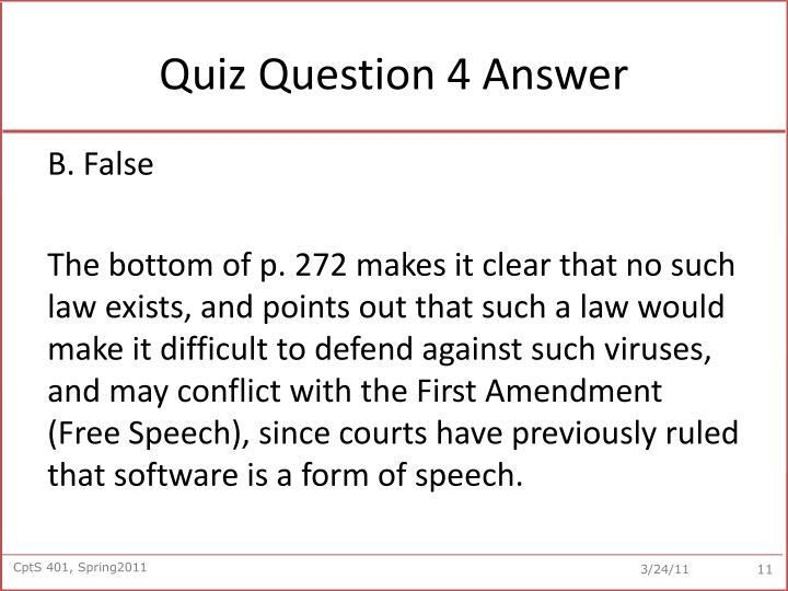 Quiz Question 4 Answer