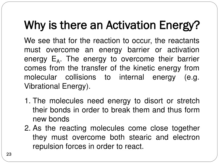 Why is there an Activation Energy?