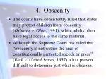 4 obscenity