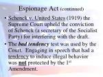 espionage act continued