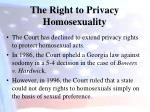 the right to privacy homosexuality