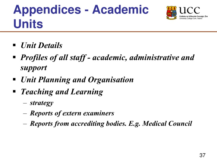 Appendices - Academic