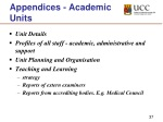 appendices academic units