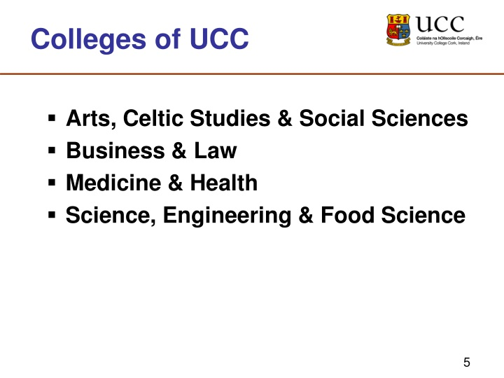 Colleges of UCC