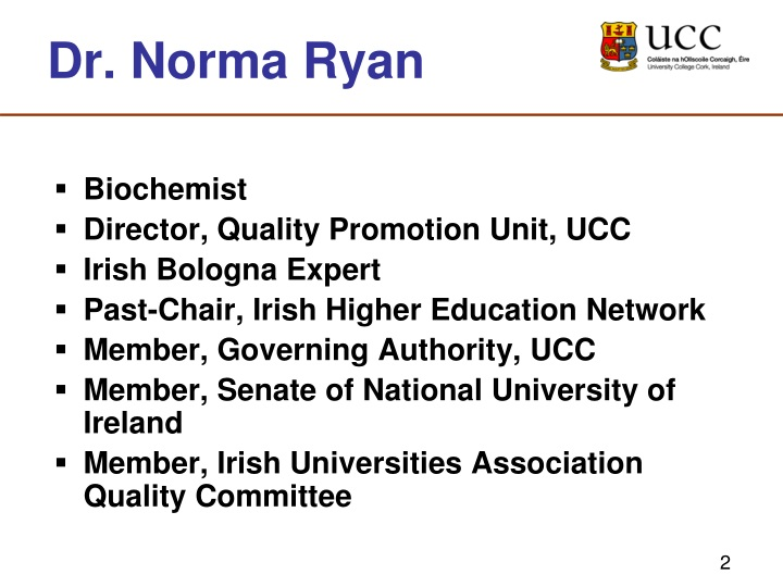 Dr. Norma Ryan