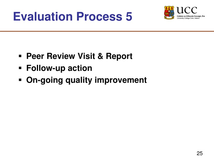 Evaluation Process 5