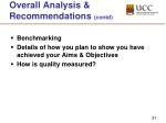 overall analysis recommendations contd