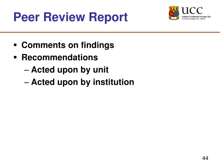 Peer Review Report