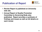publication of report