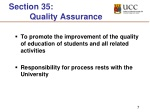 section 35 quality assurance