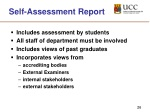 self assessment report