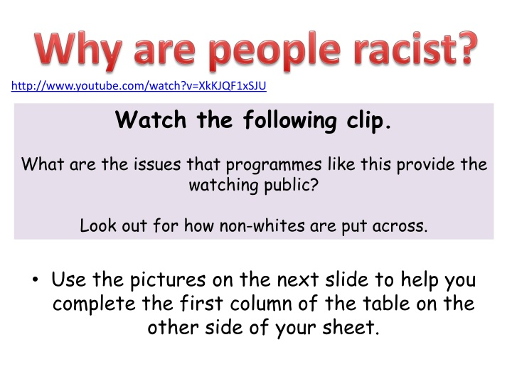 Why are people racist?
