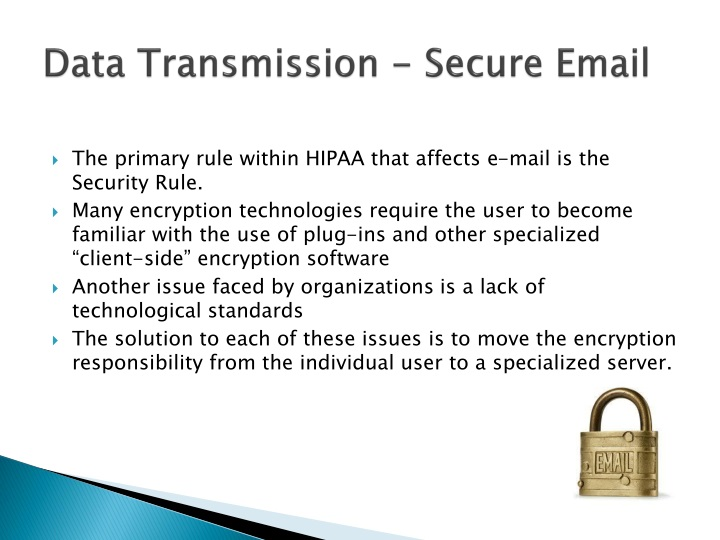 Data Transmission - Secure Email