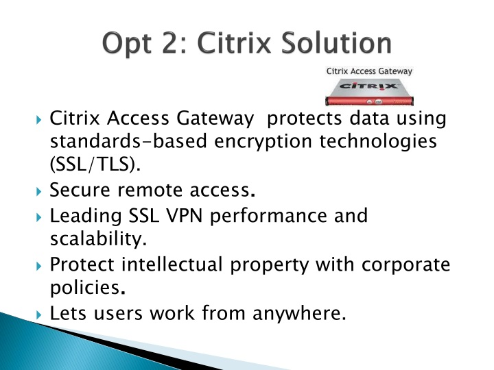 Opt 2: Citrix Solution