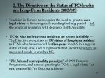 2 the directive on the status of tcns who are long term residents 2003 109
