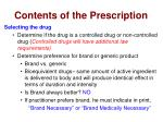 contents of the prescription3