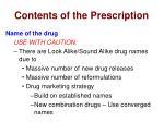 contents of the prescription4