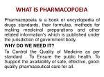 what is pharmacopoeia
