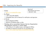 vba applying for benefits