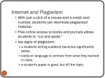 internet and plagiarism