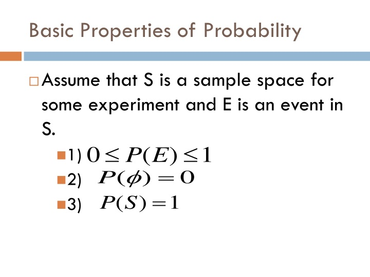Basic Properties of Probability